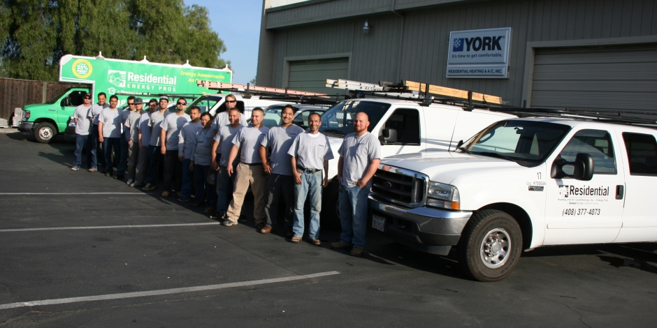 residential heating and cooling team picture