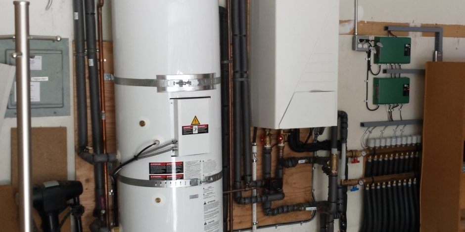 residential heating and cooling radiant heat installation