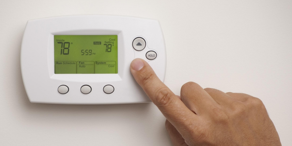 residential heating and cooling thermostat